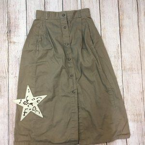 Vintage Ankle length aline skirt - U-26